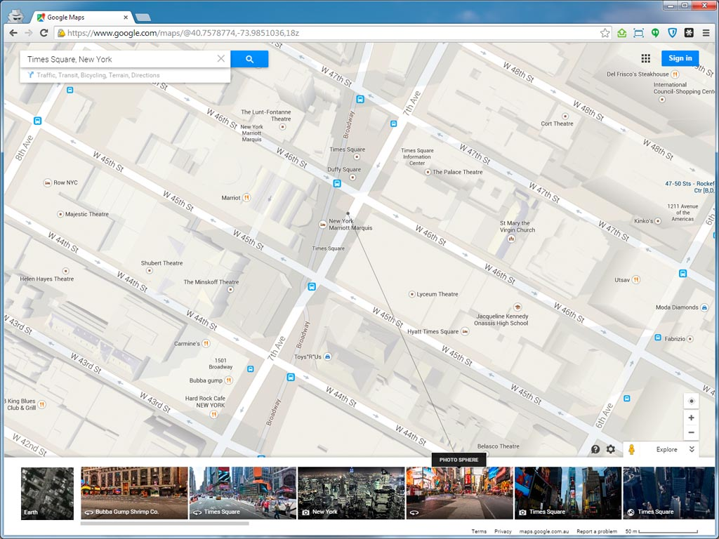 Gmaps-Times-Square-Map